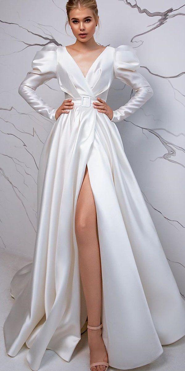 36 Totally Unique Fashion Forward Wedding Dresses ❤ fashion forward wedding dresses simple a line with sleeves evalendel #weddingforward #wedding #bride