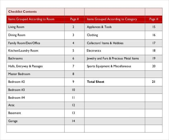 Office Supplies Inventory Checklist Template