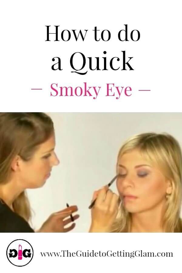 Easy smoky eye tutorial for beginners! Watch this makeup artist tutorial on how to do a quick smoky eye in three easy steps. #makeuptutorial #smokyeye #howtodosmokyeyestepbystep #easysmokyeye #smokyeyetutorial