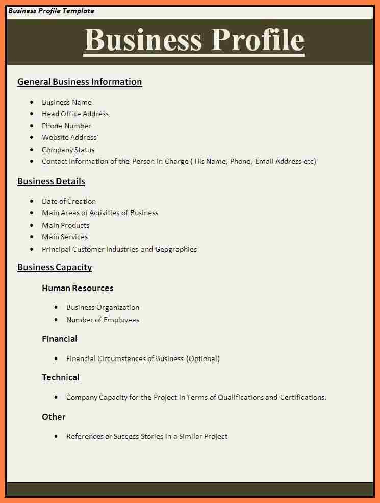 Company Information Template How To Write A Company Profile And - sample company report