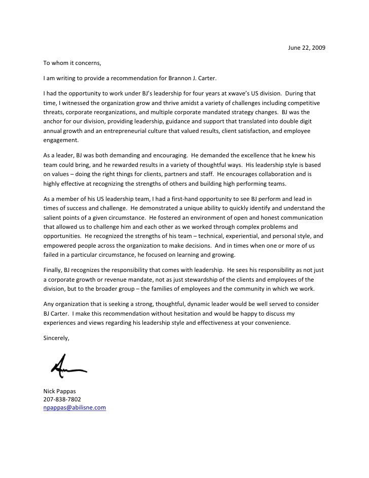 Reference Letter For Staff Best 25 Employee Recommendation Letter - leadership recommendation letter