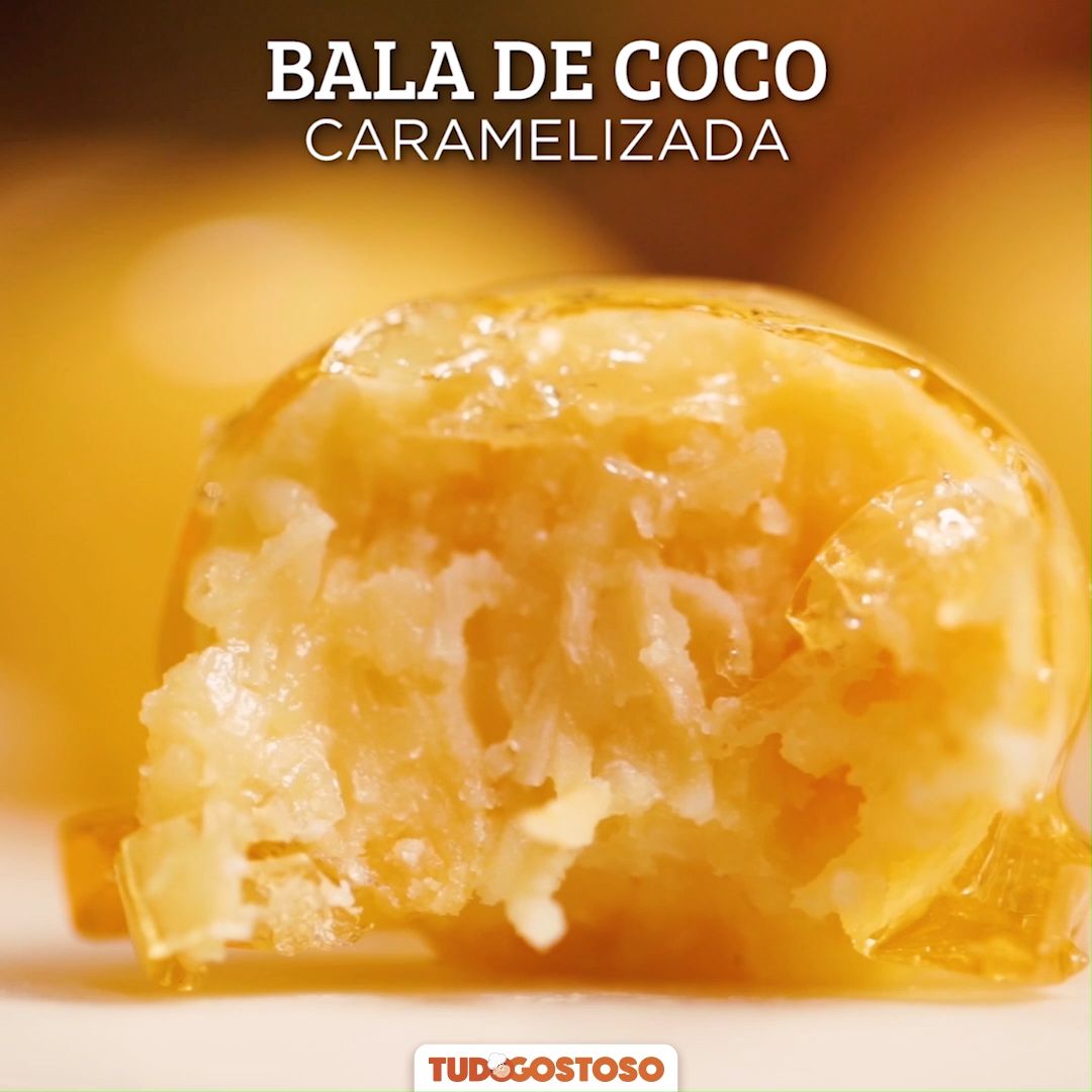 Bala de Coco Caramelizada