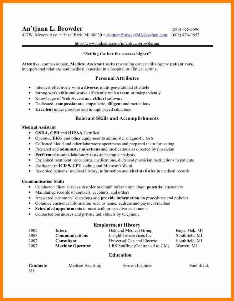 Medical Assistant Qualifications 16 Free Medical Assistant Resume - medical assistant qualifications resume