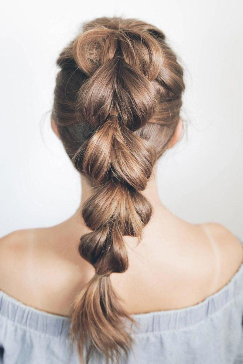 "23 Beautiful Braid Hairstyles That'll Liven Up Your Hair Routine: Pull-Through Braid Ponytail <a class=""pintag"" href=""/explore/Braidedhairstyles/"" title=""#Braidedhairstyles explore Pinterest"">#Braidedhairstyles</a><p><a href=""http://www.homeinteriordesign.org/2018/02/short-guide-to-interior-decoration.html"">Short guide to interior decoration</a></p>"