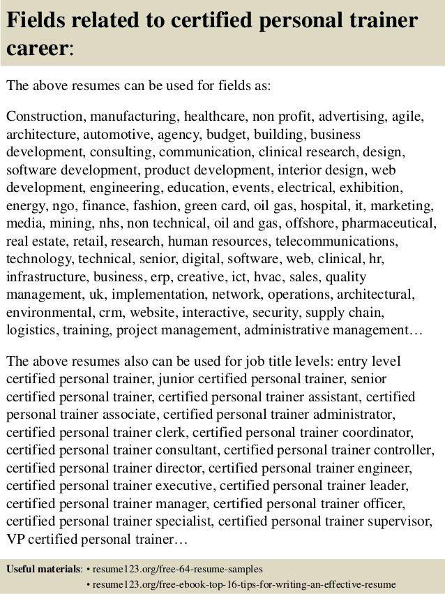 trainer resume example resume cv cover letter