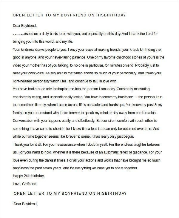 a love letter to my boyfriend