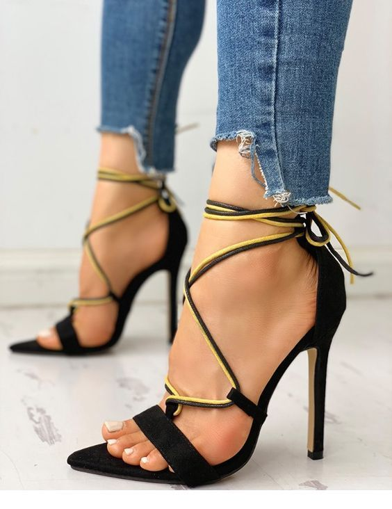 Nice black and yellow sandals