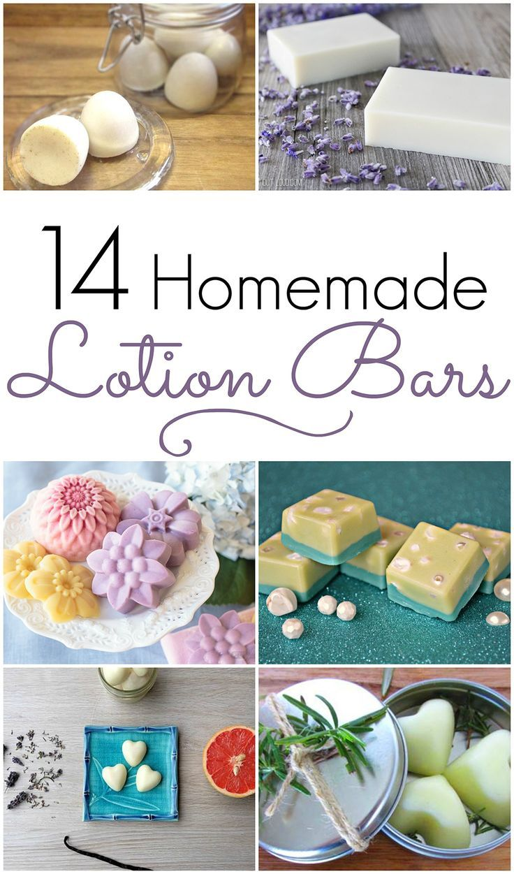 14 of the Best Homemade DIY Lotion and Massage Bar Recipes! Pin for later!