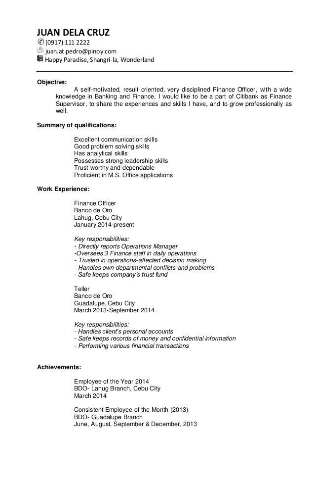 Target Resume Examples - Examples of Resumes - target resume