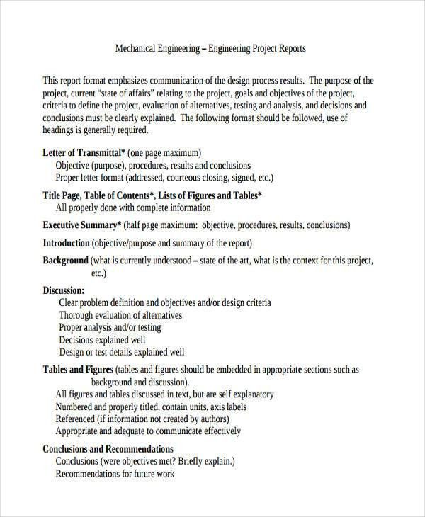 Format For Report 21 Monthly Sales Report Templates Free Sample - project report format
