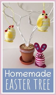 How to make a simple Easter tree using wire and tissue paper