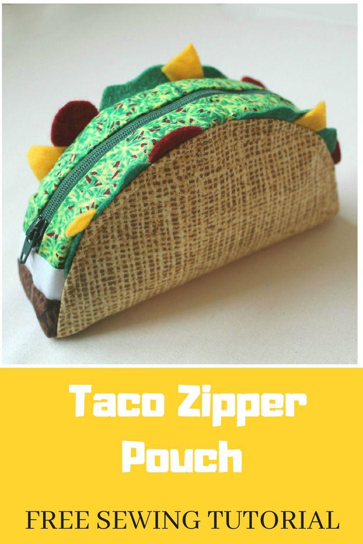 Taco Zipper Pouch