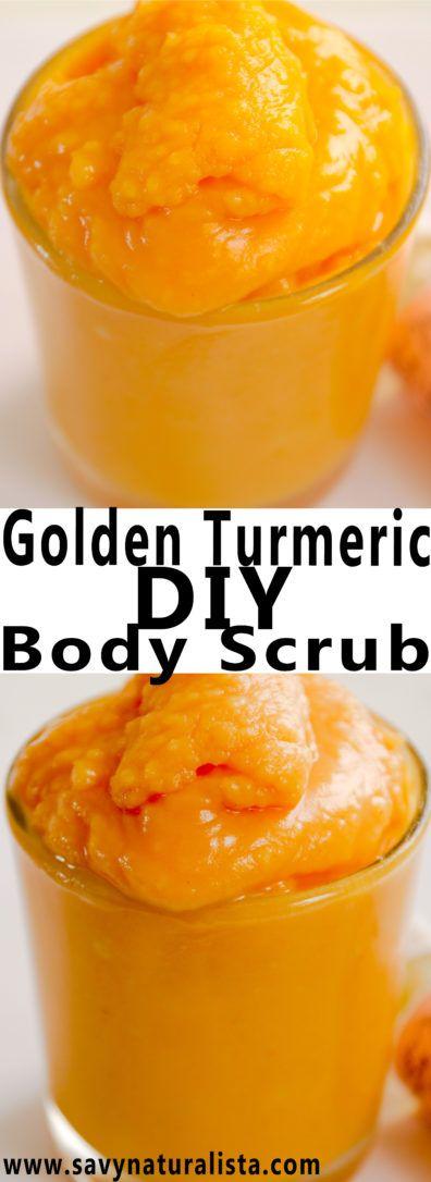 All-natural golden turmeric baking soda scrub is the perfect body scrub to exfoliant the skin naturally…