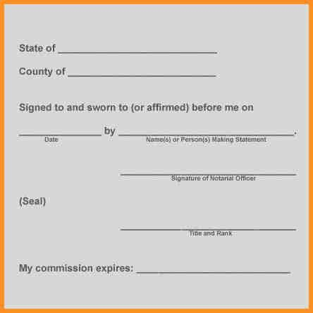 Notary Template] Notarized Letter Templates 27 Free Sample Example