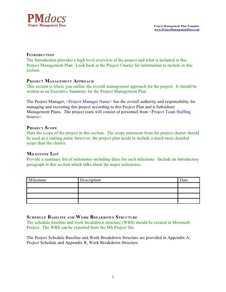 Project Plan Template Word Doc - Oloschurchtp.com