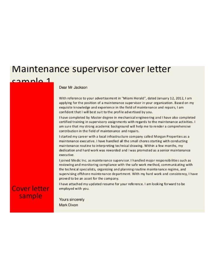 Department Supervisor Cover Letter