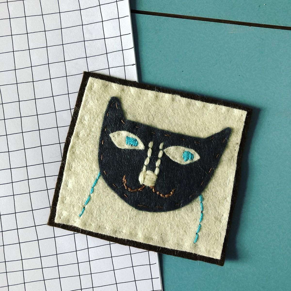 Patch. Made by hand.