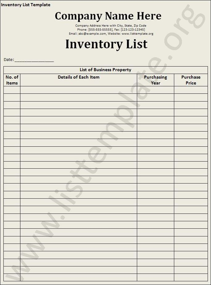 Office Inventory List Sample Inventory List 11 Free Word Excel - inventory list example