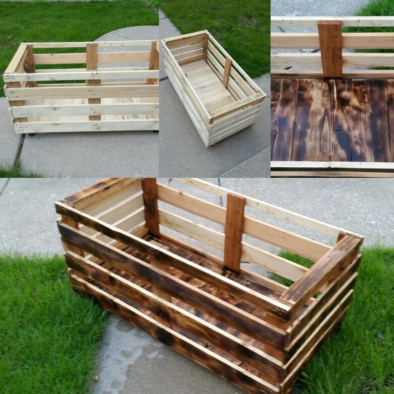 My girls needed a toy box, so I built one out of pallets