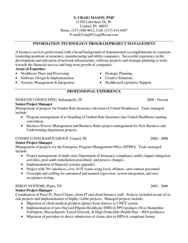 technical program manager resumes