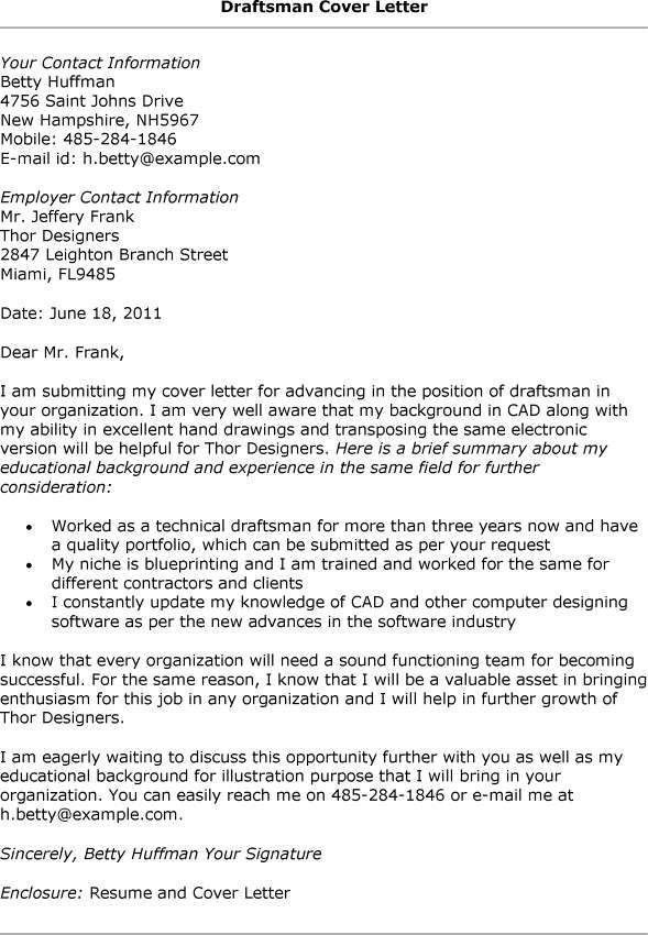 Superb Mechanical Drafter Cover Letter