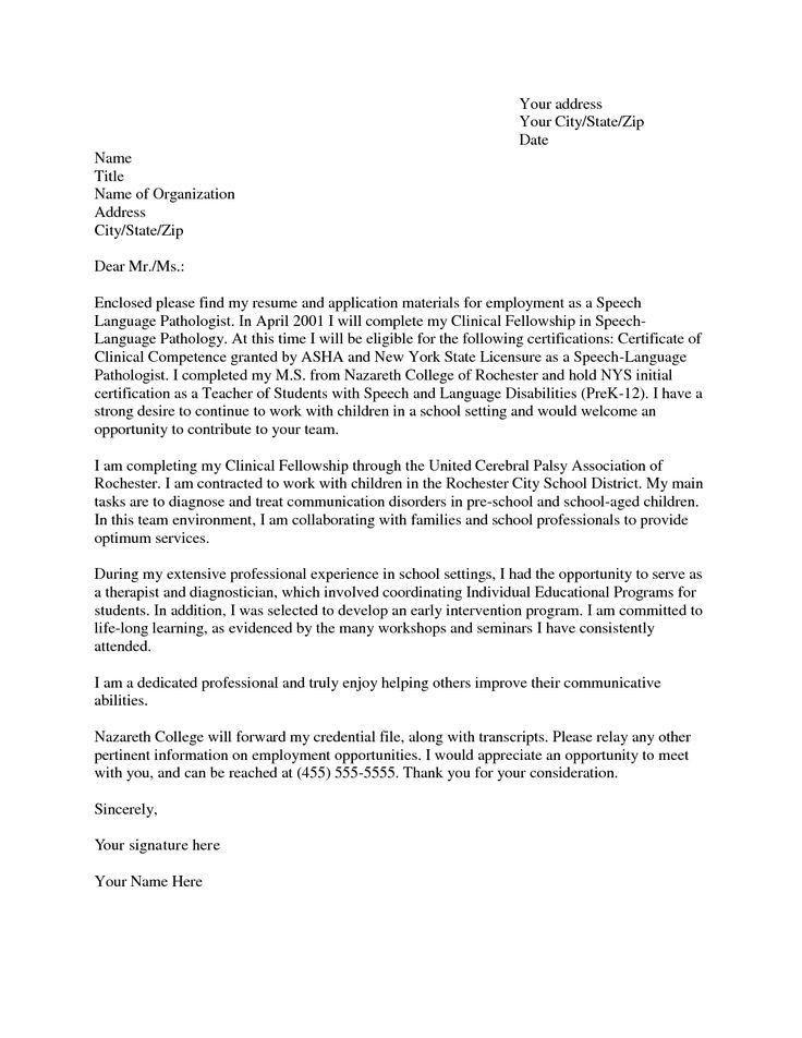 Child Speech Therapist Cover Letter Cvresumeunicloudpl PhotoBaze