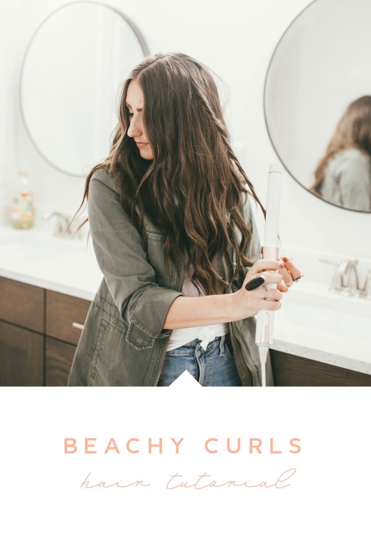 Curious how to get the perfect beachy curls? Utah Style blogger Dani Marie is sharing the best beachy curls hair tutorial here!