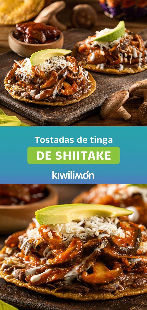 Tostadas de Tinga de Shiitake