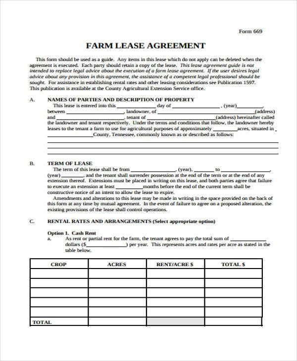 Free Blank Lease Agreement Forms Free Rental Forms To Print Free - sample lease agreement form