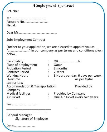 Employment Agreement Template 10 Employment Agreement Templates - agreement for labour contract