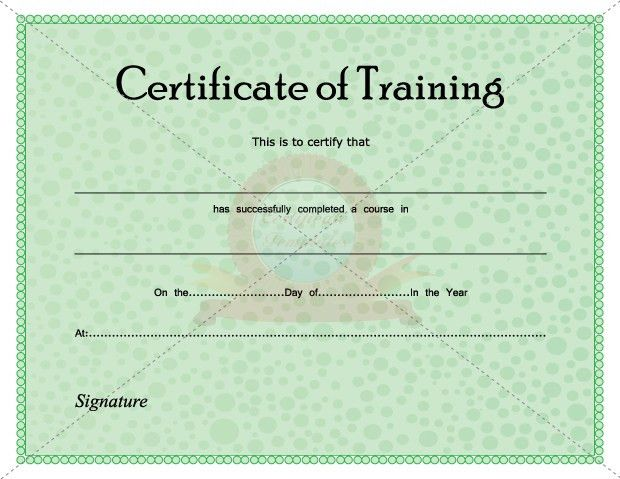 Sample training certificate template 25 documents in psd pdf - free training certificates