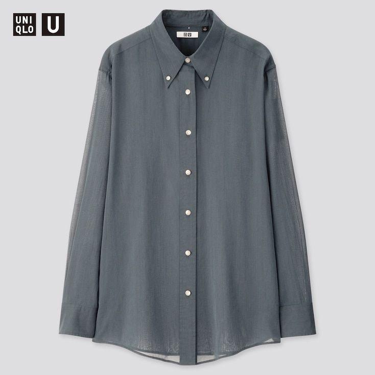 Damen Bluse mit Button-Down-Kragen | UNIQLO