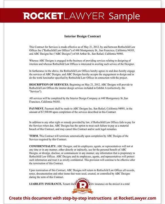 Interior Design Contract Template 6 Interior Designer Contract - sample freelance contract template
