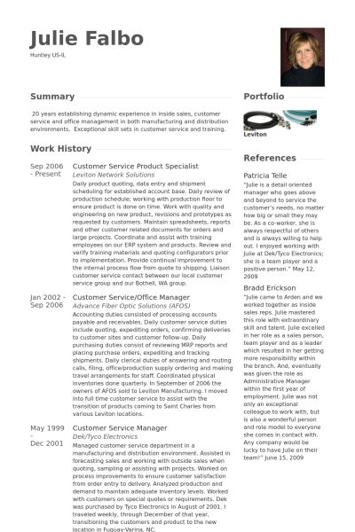 customer account specialist sample resume node2001-cvresume