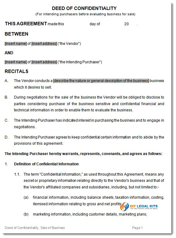 Confidentiality Clause Contract Confidentiality Agreements A - vendor confidentiality agreement