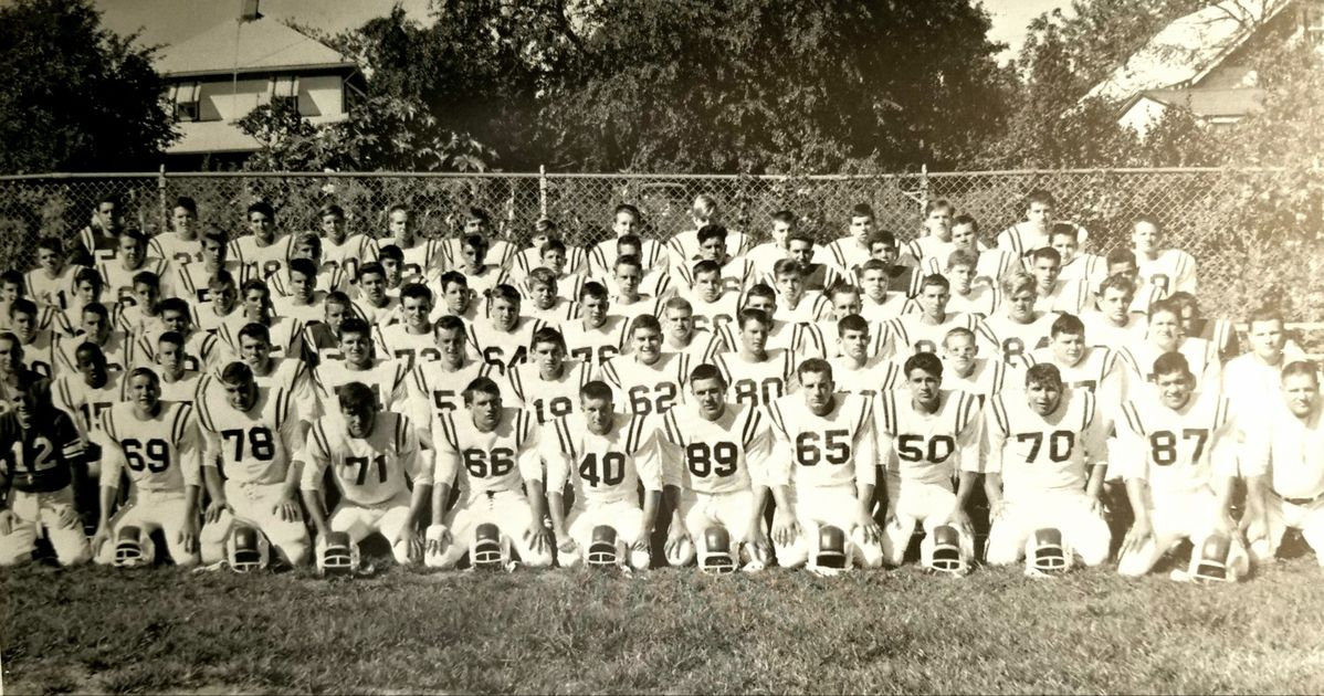 1963 toms river high school football squad team photo