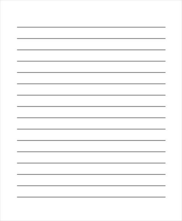 lined paper word – Wide Ruled Paper Printable
