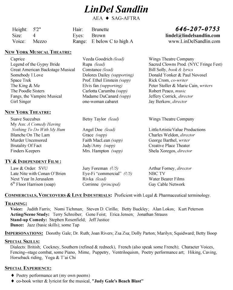 singer resume template singer resume example resumecompanioncom theatre resume templates