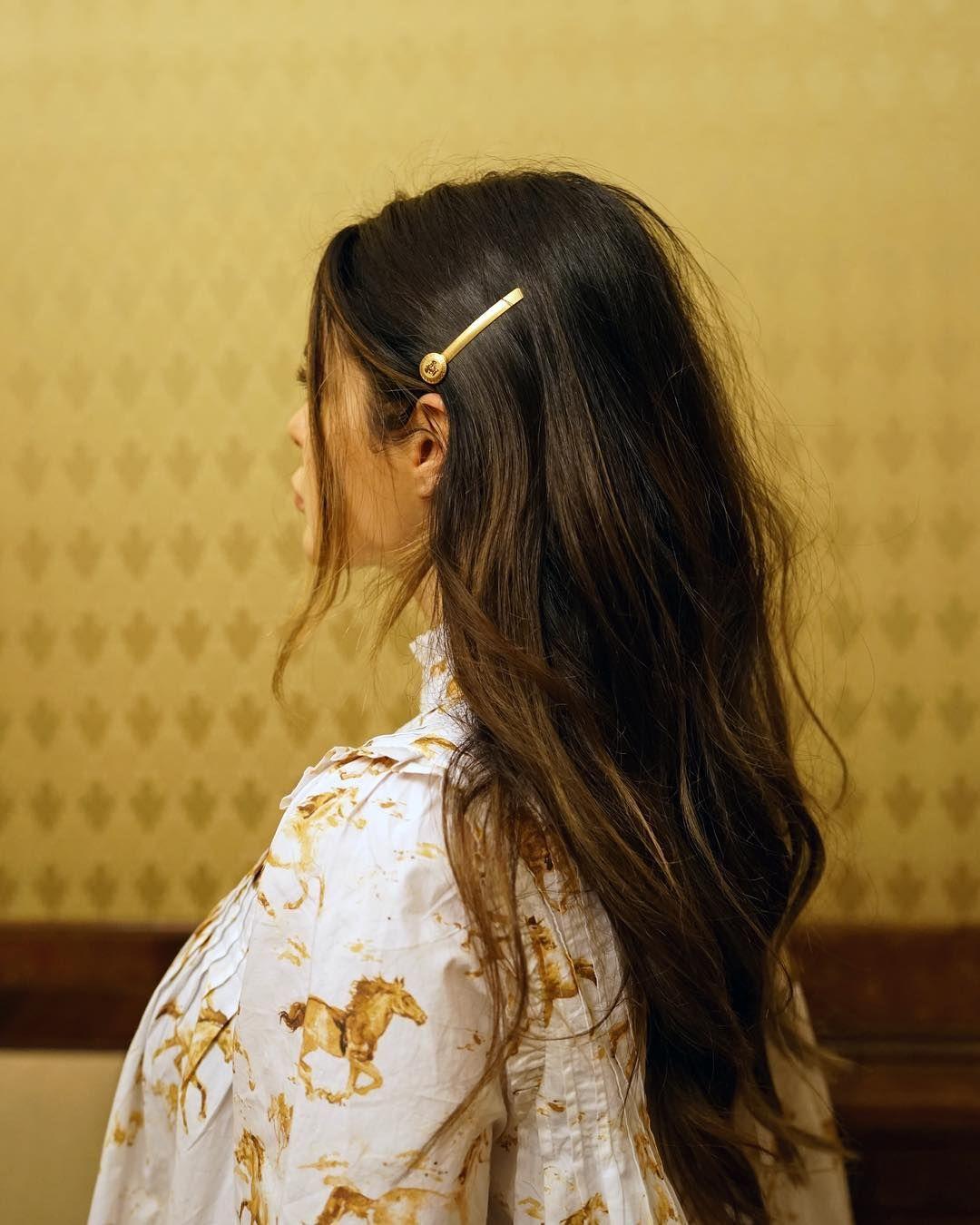 Faaaaaav @versaceMedusa hair clips ⚜