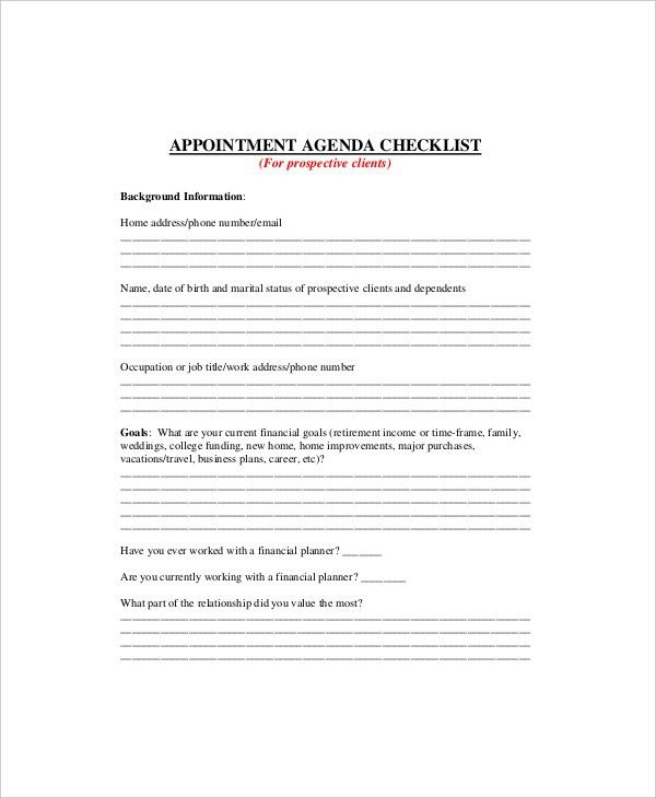 New Business Client Information Template Business Format Client - agenda template example