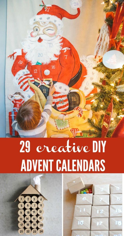29 Creative DIY Advent Calendar for kids – C.R.A.F.T. #adventcalendar #christmas