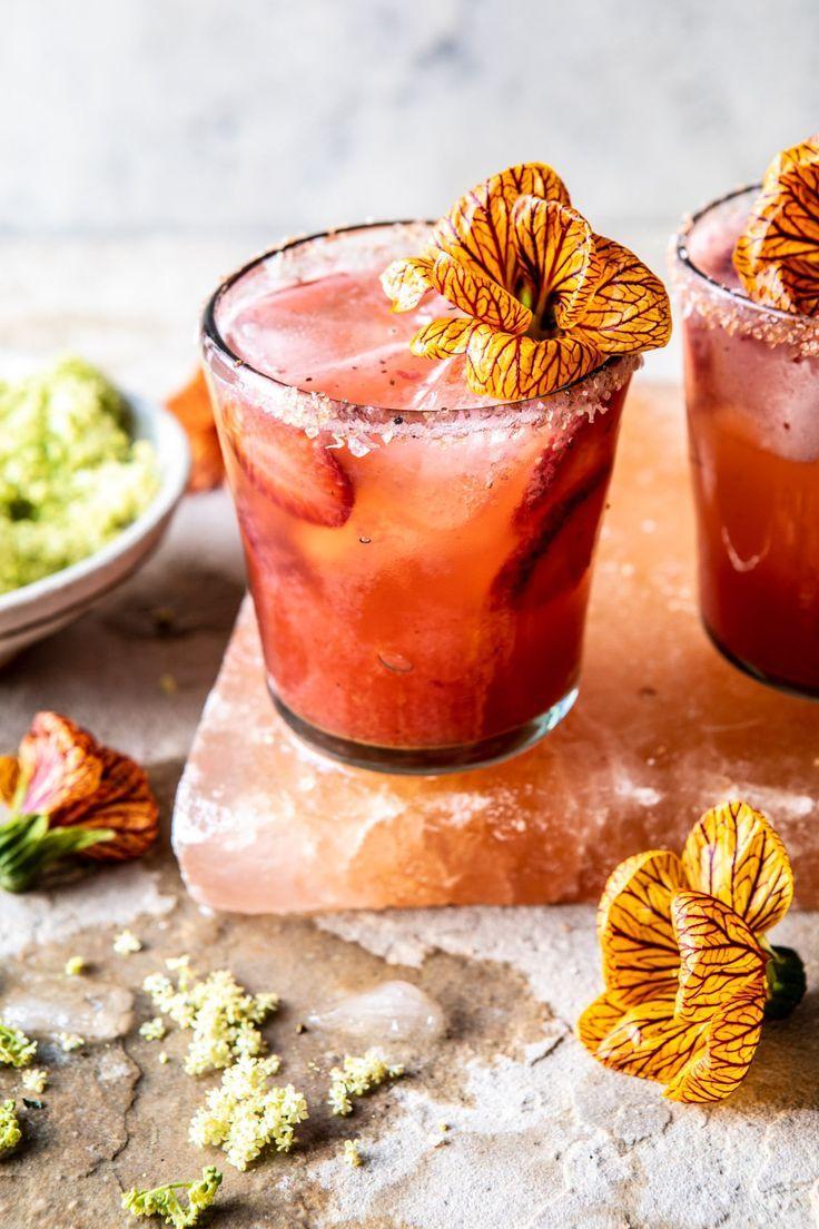 Strawberry Hibiscus Ginger Margarita.