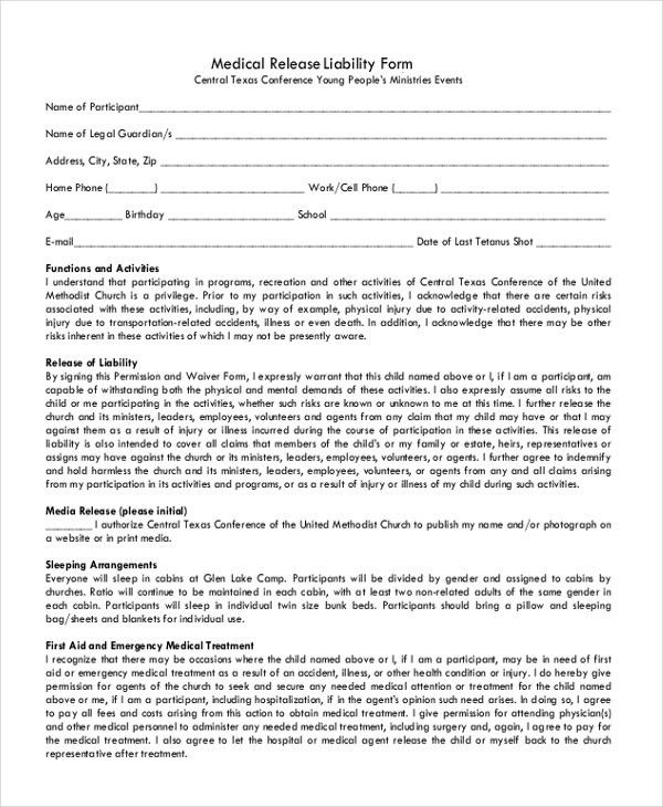 Release Of Liability Form Free Release Of Liability Create A Free - free release of liability form