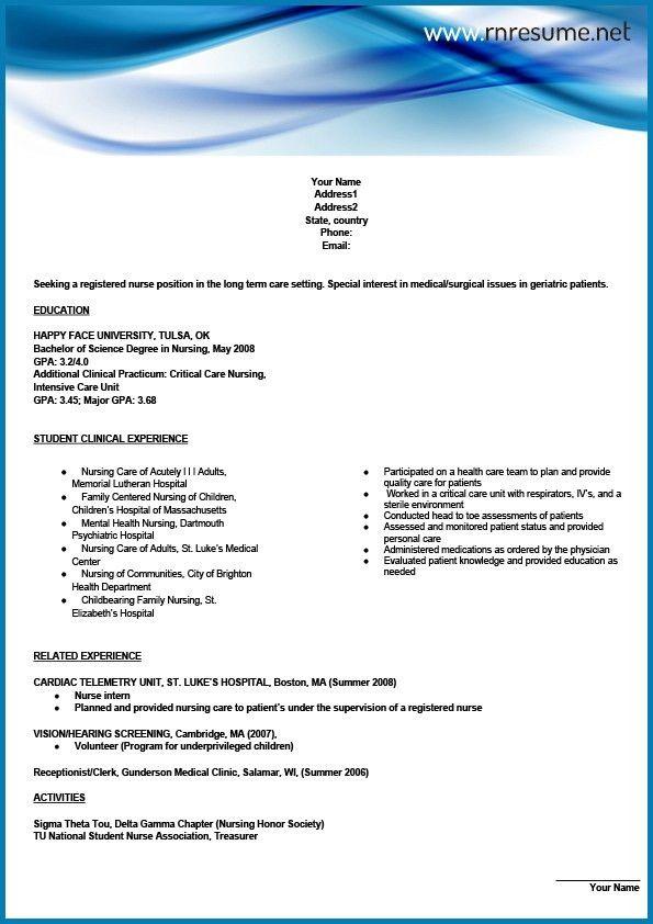 Sample Nursing Resume New Graduate New Registered Nurse Resume - mental health nurse resume