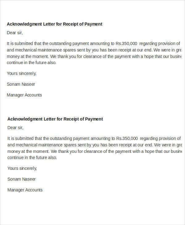 payment received format