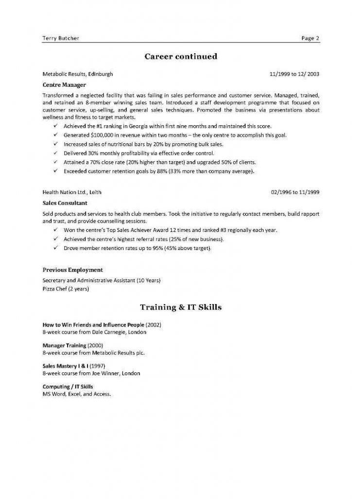 Sample References For Resume Resume Template References Page