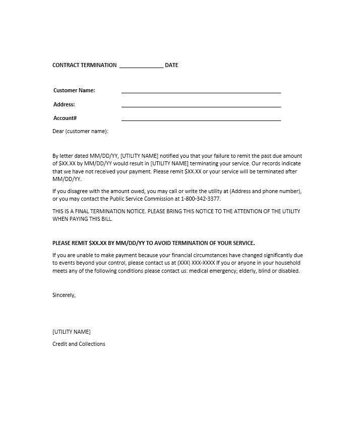 Termination Notice Format Free Termination Letter Template 33 - lease termination letter example
