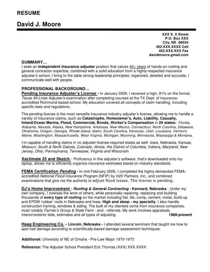 Crop insurance adjuster cover letter