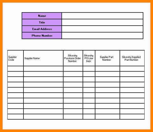 office phone list template