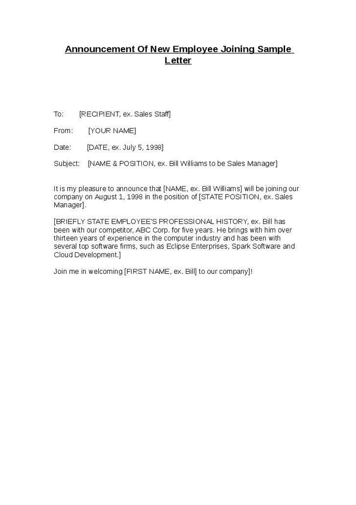 employee leaving announcement sample | node2003-cvresume ...